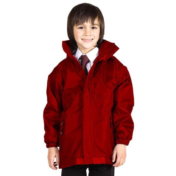 Kids Premium Reversible Waterproof Fleece TFK06-red