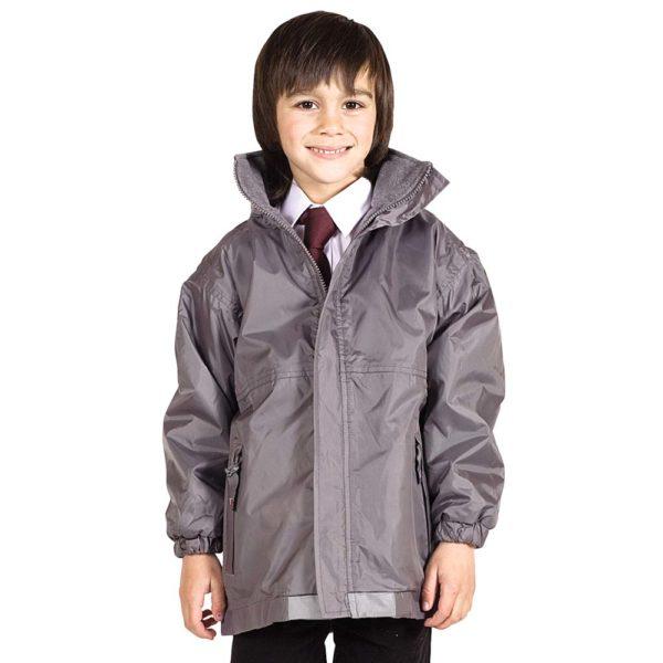 Kids Premium Reversible Waterproof Fleece TFK06-school-grey