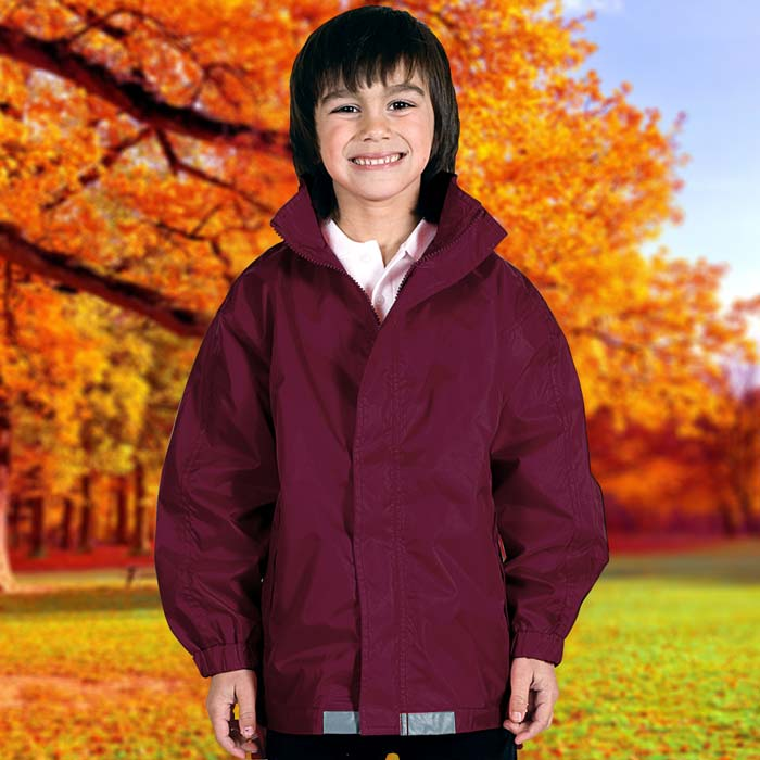 135gsm Kids College Jacket - TJAK01-burgundy