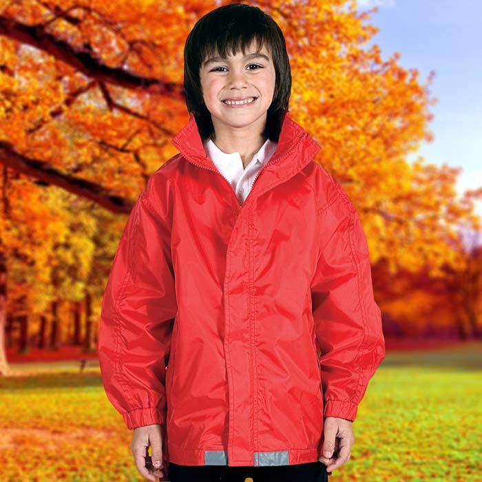 135gsm Kids College Jacket - TJAK01-red