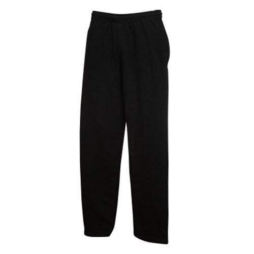 Kids Open Bottom Jog Pants-TJK02-black