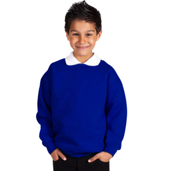 Kids Premium Hi-Spec Set-In Crew Sweatshirt TSK01-royal-blue
