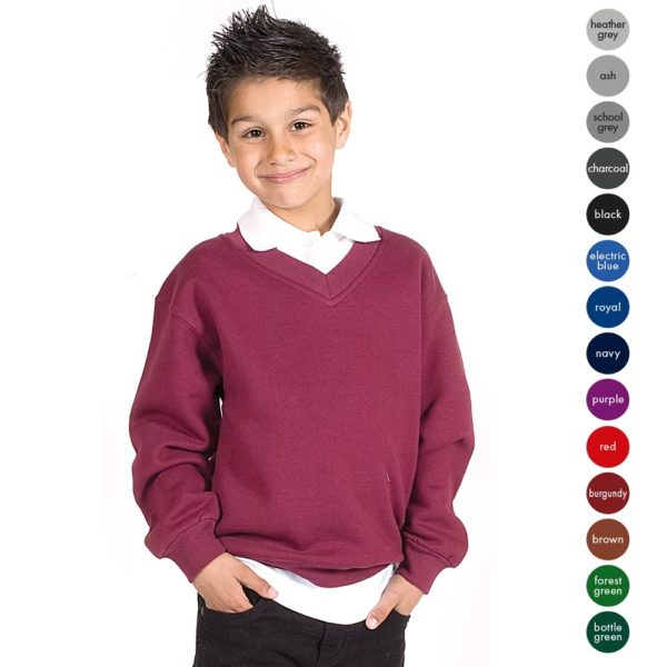 Kids Premium V-Neck Set-In Sweatshirt TSK02-main