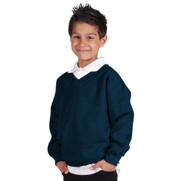 Kids Premium V-Neck Set-In Sweatshirt TSK02-navy