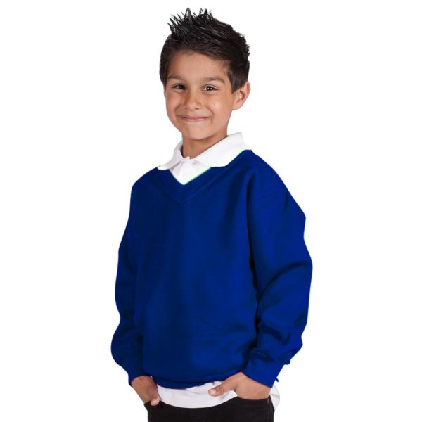 Kids Premium V-Neck Set-In Sweatshirt TSK02-royal