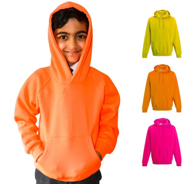 Kids Illuminous Hooded Raglan Sweatshirt - TSK08