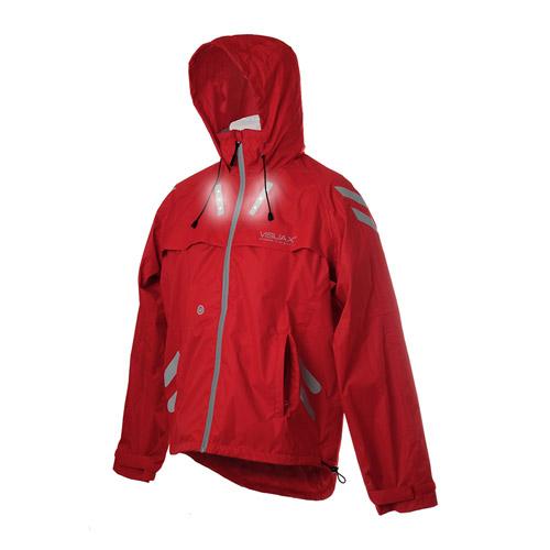 LED Hi-Vis 'Highlight Hooded' Cyclist Equestrian Jacket