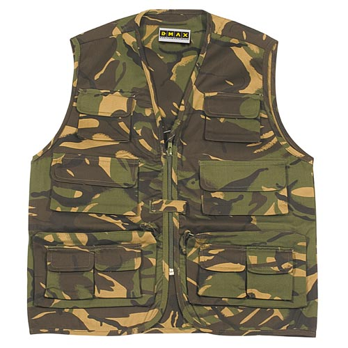 245gsm Kids Multi-Pocket Combat Waistcoat - WWCK20