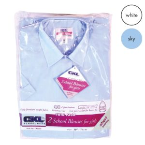 TWINPACK - Girls Short Sleeve School Blouse CBLG02