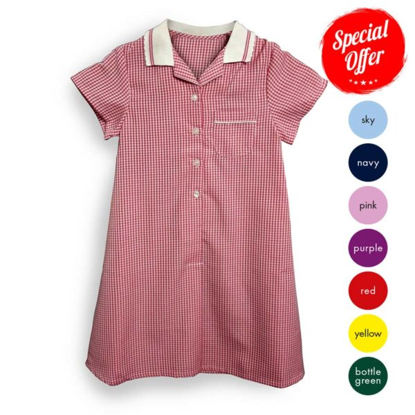 Polyester / Viscose - Girls School Dress Summer CDRK03