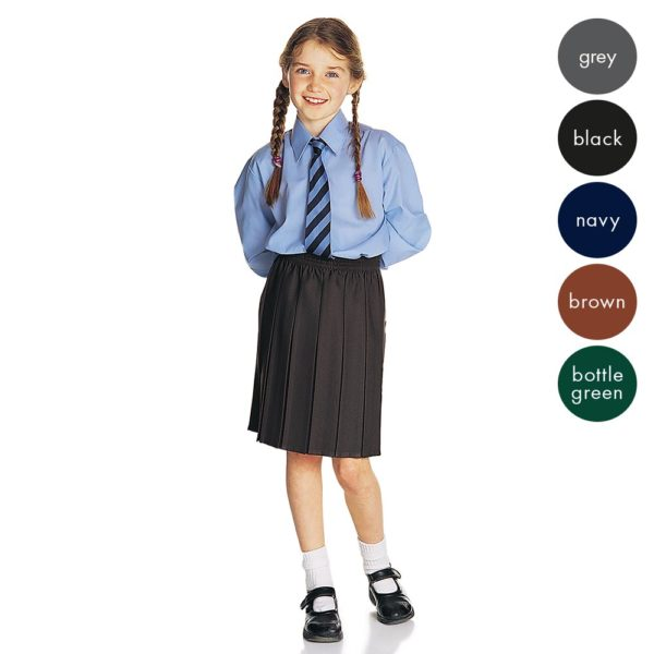 Girls All Box Pleat School Skirt - Primary CSKG01