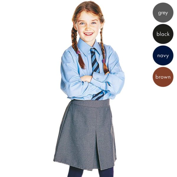 Girls Front Box Pleat School Skirt - Primary CSKG02