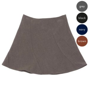 58% Polyester / 38% Viscose / 4% Elastane Girls Twisted Gore Skirt - Primary CSKG07