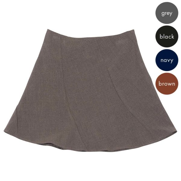 58% Polyester / 38% Viscose / 4% Elastane Girls Twisted Gore Skirt - Primary CSKG07