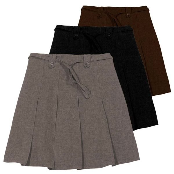 Girls Knife Pleat Ribbon Skirt - Primary CSKG11