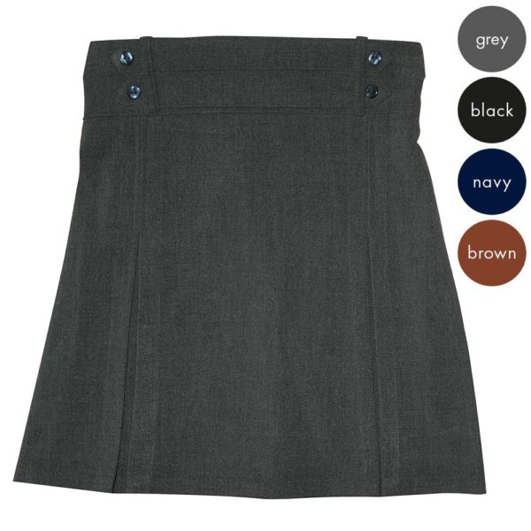 Girls 4 Button Waist Skirt CSKG126