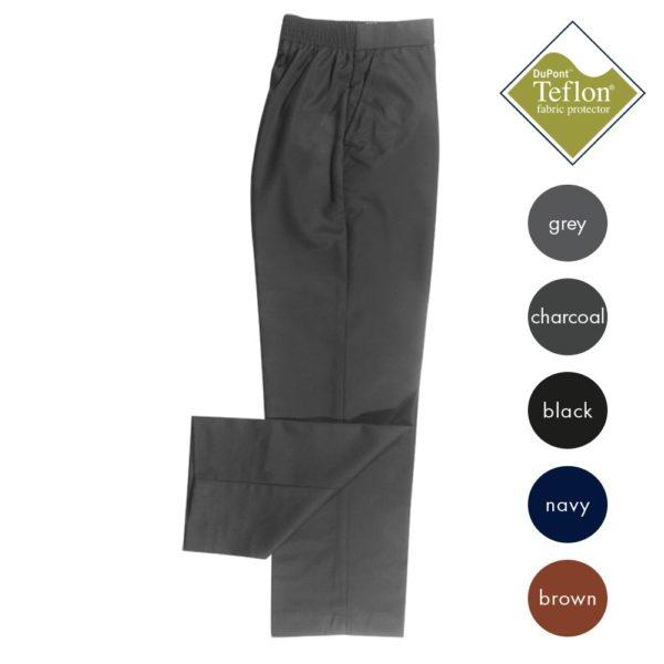 1/2 Elastic Waist Zip Front Trouser CTRB22