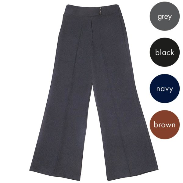 Girls 3 Button Bootleg Trousers - Primary CTRG100