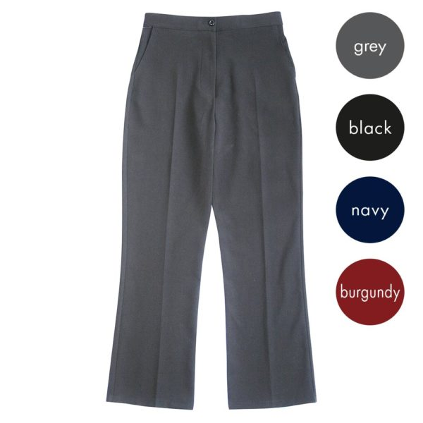 Girls Straight Leg Trousers with Internal Elastic Adjuster CTRG142-main