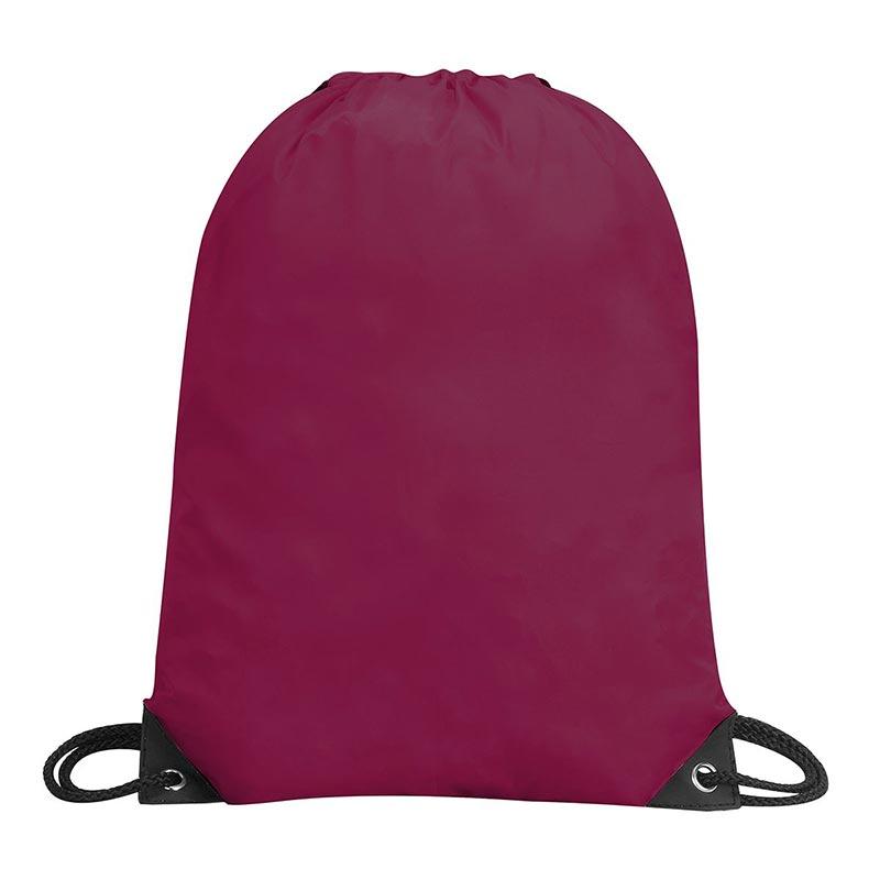 Stafford Nylon Drawstring Backpack - GBA5890-burgundy