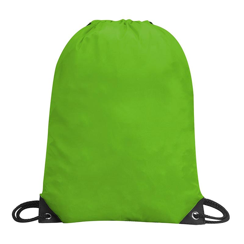 Stafford Nylon Drawstring Backpack - GBA5890-lime