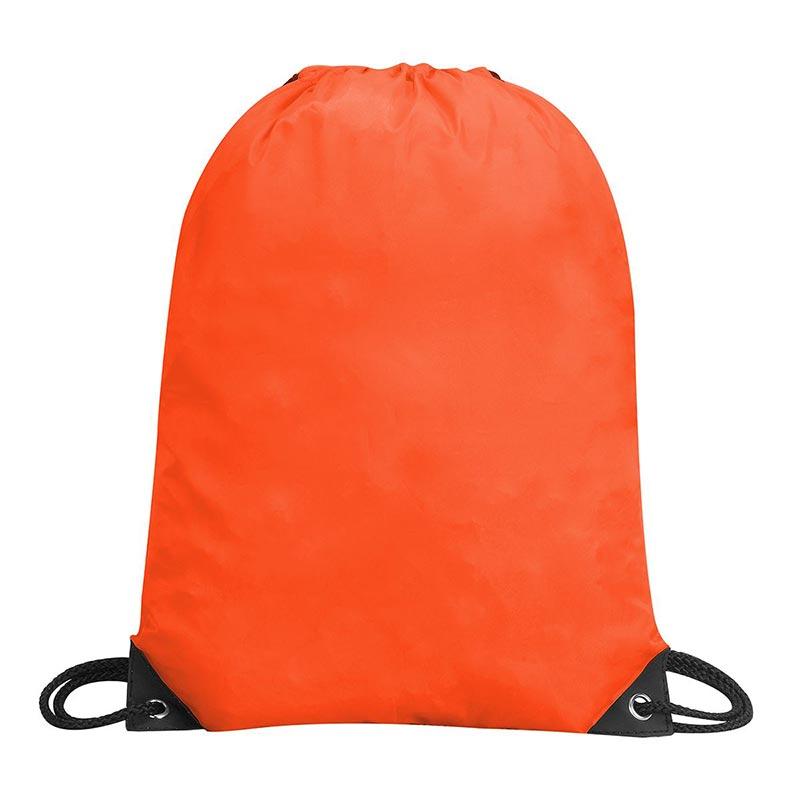 Stafford Nylon Drawstring Backpack - GBA5890-orange