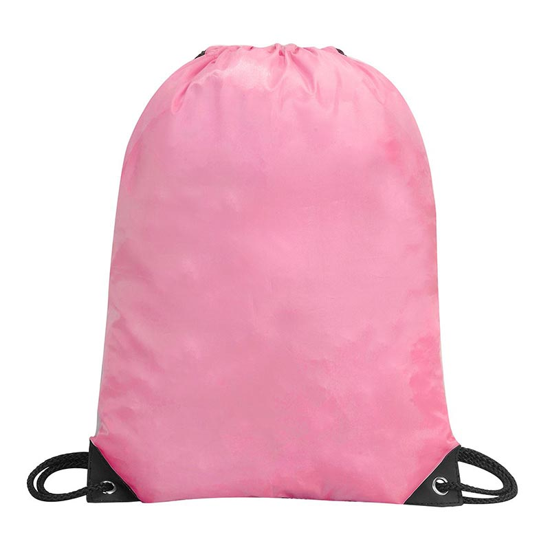 Stafford Nylon Drawstring Backpack - GBA5890-pink