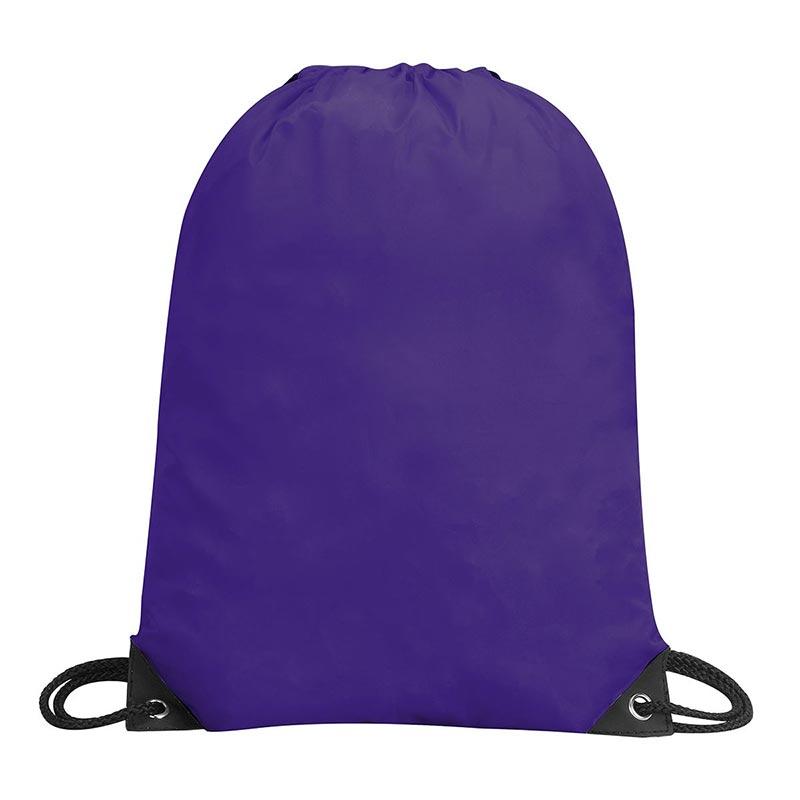 Stafford Nylon Drawstring Backpack - GBA5890-purple