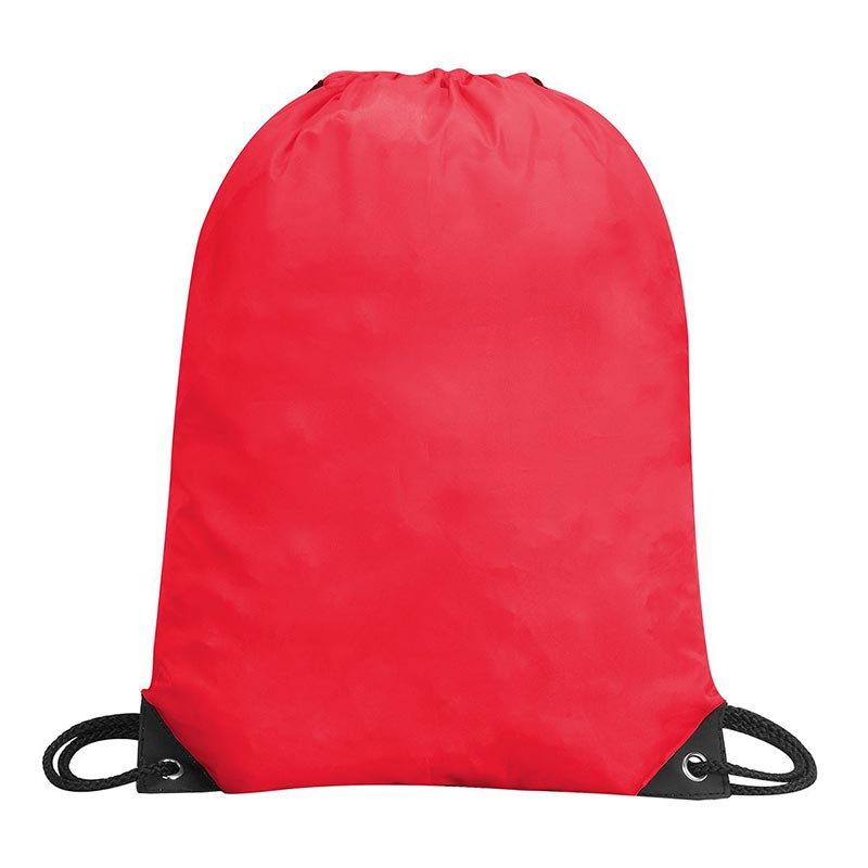 Stafford Nylon Drawstring Backpack - GBA5890-red