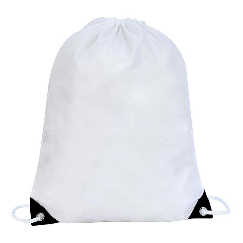 Stafford Nylon Drawstring Backpack - GBA5890-white