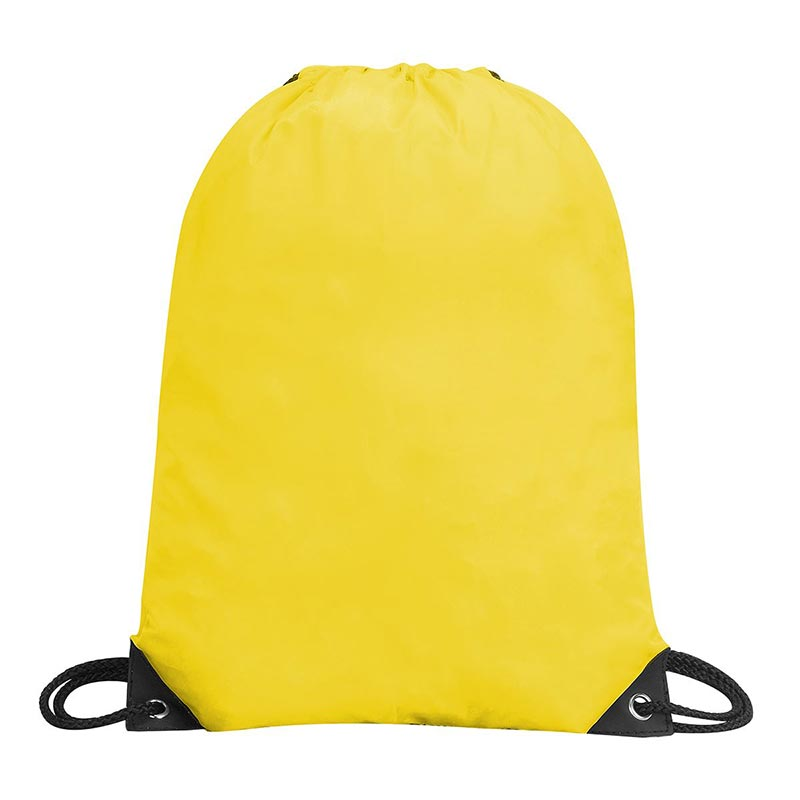 Stafford Nylon Drawstring Backpack - GBA5890-yellow