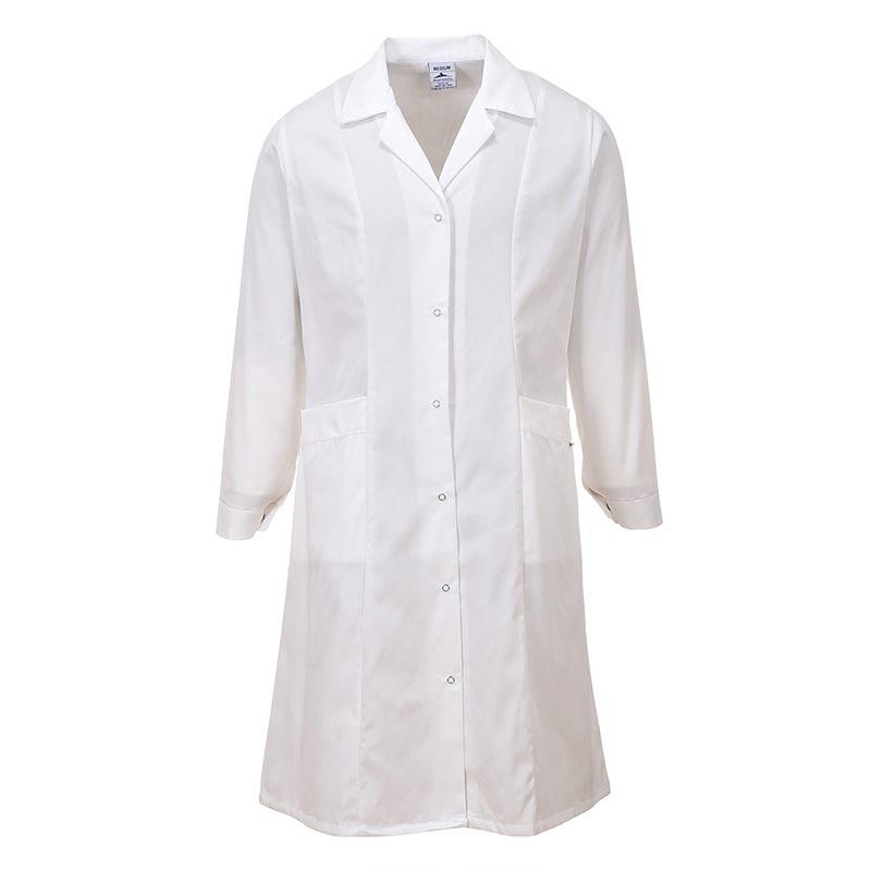 210g 65/35 PC Ladies Princess Line Coat - HCOL56-white