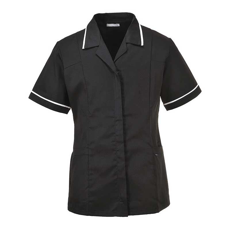 210g 65/35 PC Ladies Classic Tunic - HTUL20-black