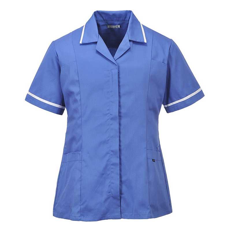210g 65/35 PC Ladies Classic Tunic - HTUL20-hospital-blue