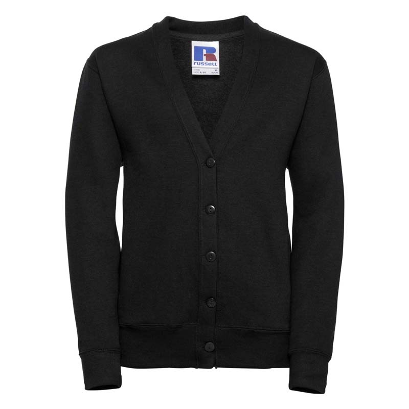 295g 50/50 PC Girls Sweatshirt Cardigan - JCK273-black