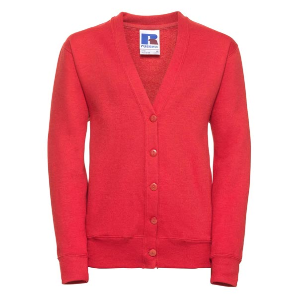 295g 50/50 PC Girls Sweatshirt Cardigan - JCK273-bright-red