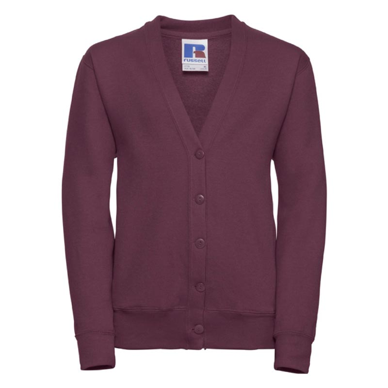 295g 50/50 PC Girls Sweatshirt Cardigan - JCK273-burgundy