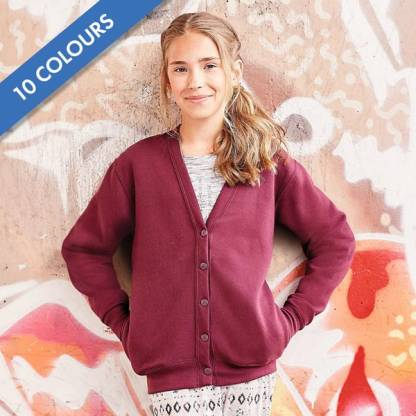 295g 50/50 PC Girls Sweatshirt Cardigan - JCK273
