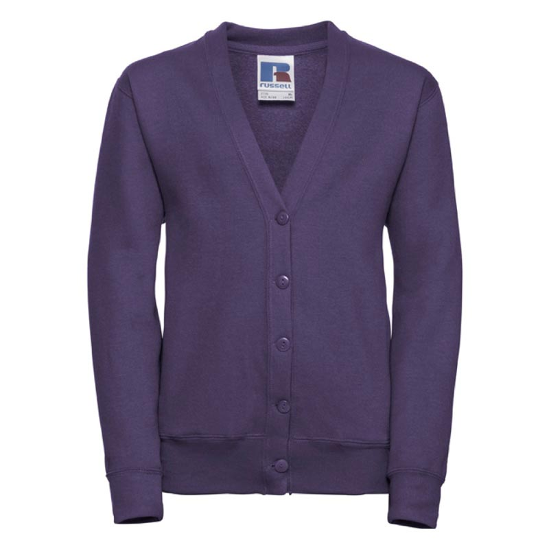 295g 50/50 PC Girls Sweatshirt Cardigan - JCK273-purple