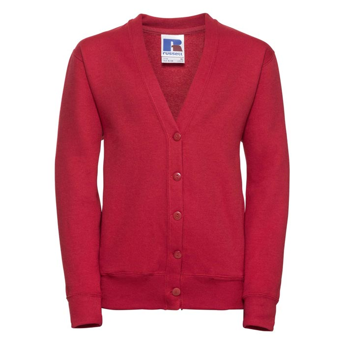 295g 50/50 PC Girls Sweatshirt Cardigan - JCK273-red