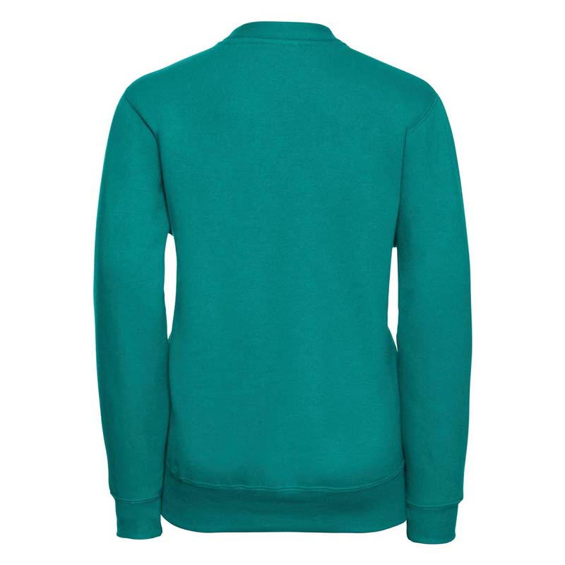 295g 50/50 PC Girls Sweatshirt Cardigan - JCK273-winter-emerald-back