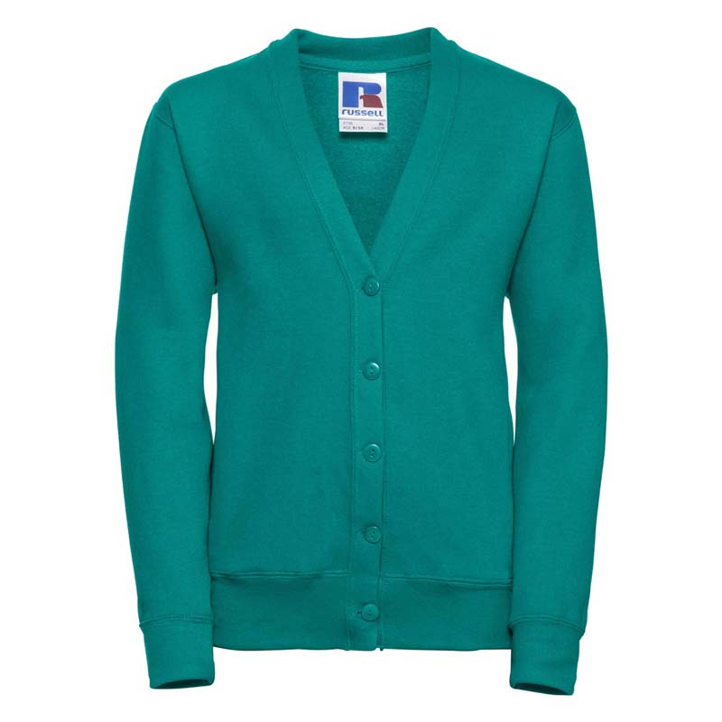 295g 50/50 PC Girls Sweatshirt Cardigan - JCK273-winter-emerald