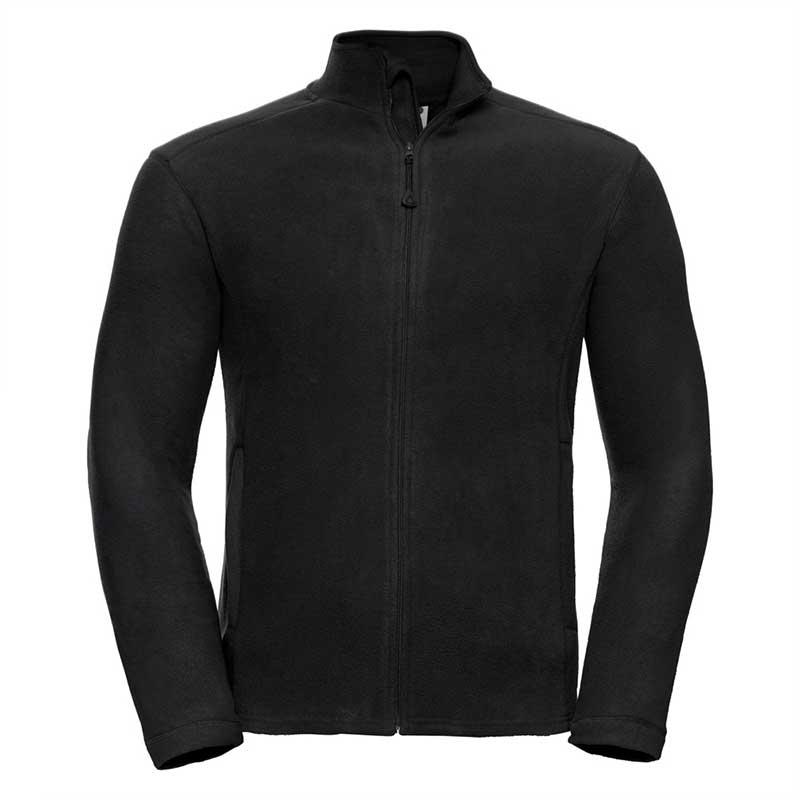 190gsm 100% Polyester Full Zip Microfleece - JMFA880-black