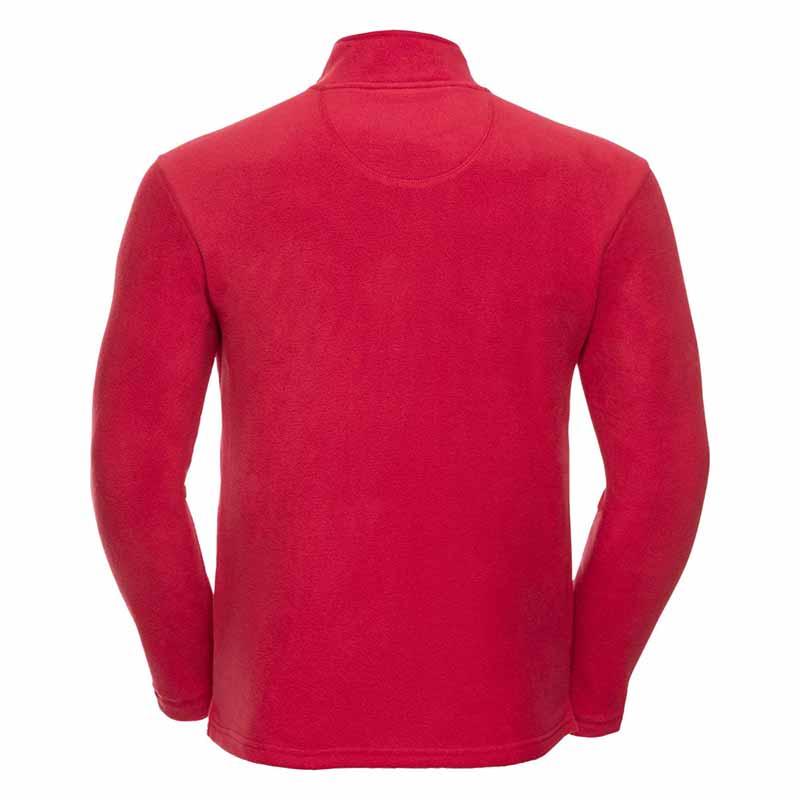190gsm 100% Polyester Full Zip Microfleece - JMFA880-red-back