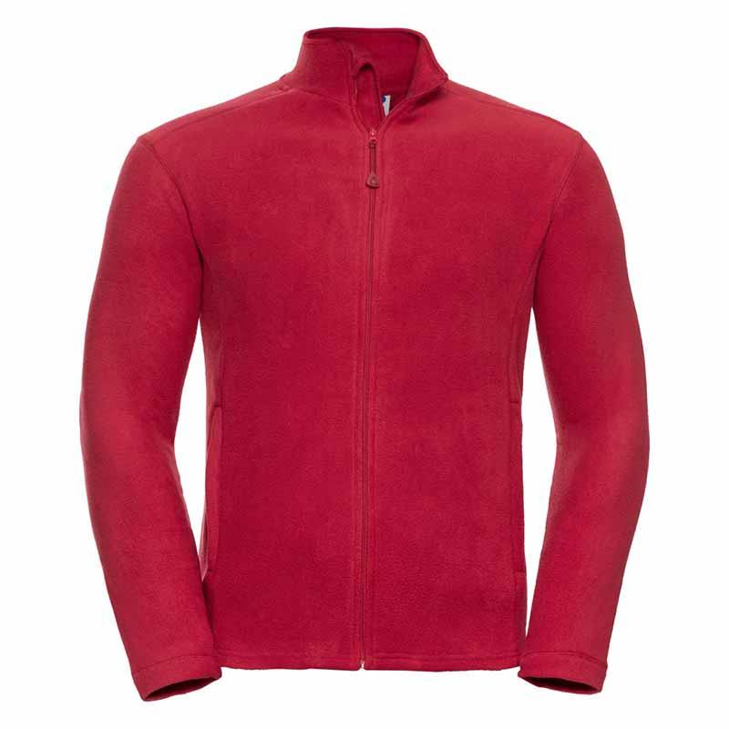 190gsm 100% Polyester Full Zip Microfleece - JMFA880-red