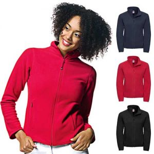 190g 100%Polyester Fitted Full Zip Ladies Microfleece - JMFL883-main