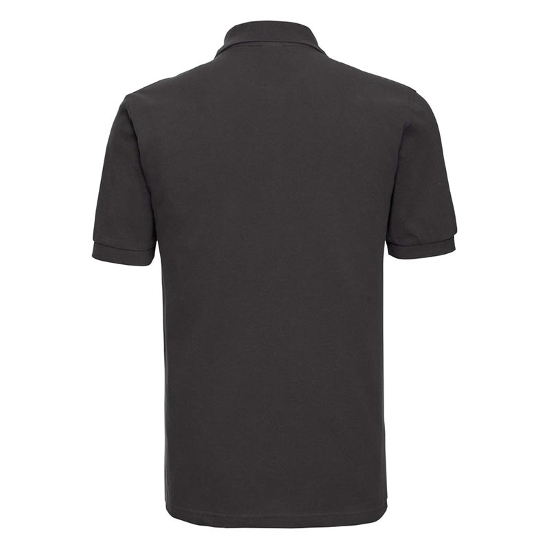 200g 100% Cotton Mens Classic Polo - JPA569-black-back
