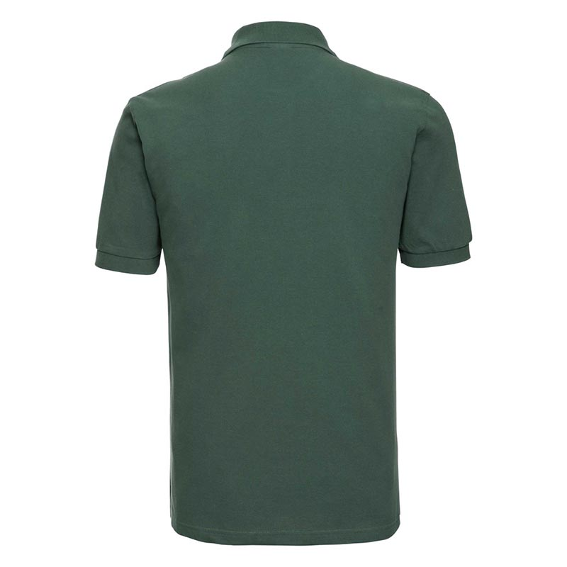 200g 100% Cotton Mens Classic Polo - JPA569-bottle-green-back