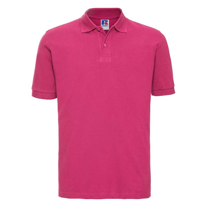200g 100% Cotton Mens Classic Polo - JPA569-fuchsia