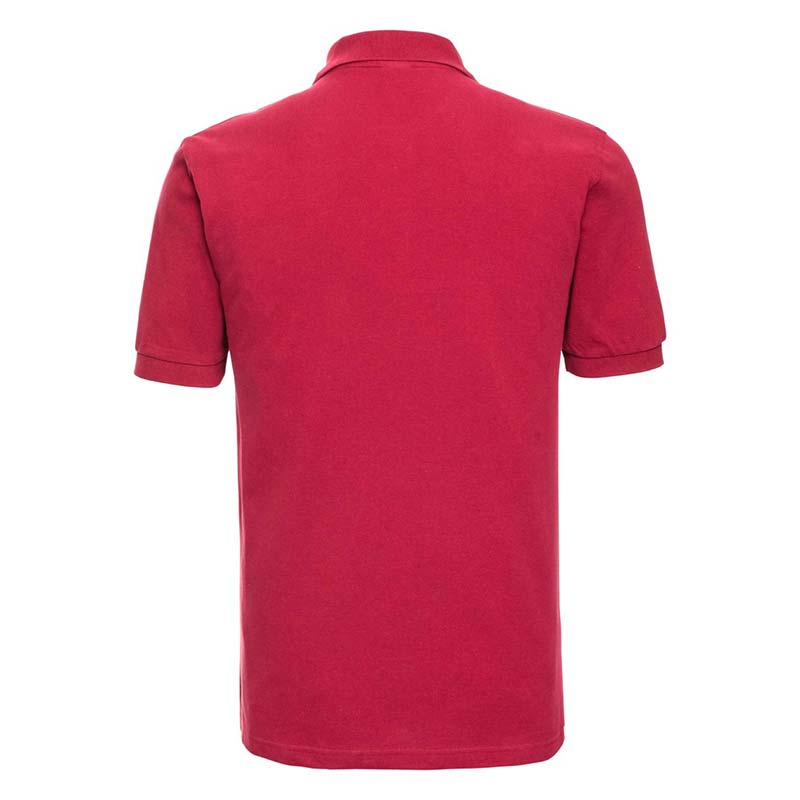 200g 100% Cotton Mens Classic Polo - JPA569-red-back